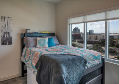 Typical Student Housing Bedroom - Private Room