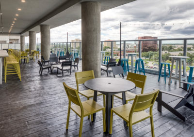 The Collaborative - 6th Floor Outdoor Patio at UnionWest at Creative Village in Orlando Florida